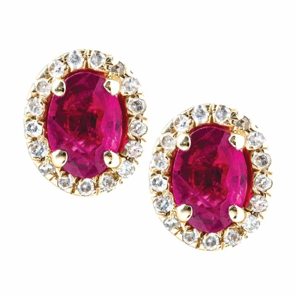 image of ruby earrings july birthstone