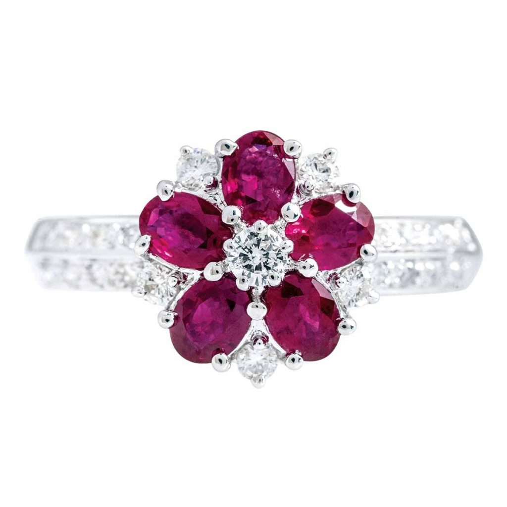 image of ruby ring july birthstone