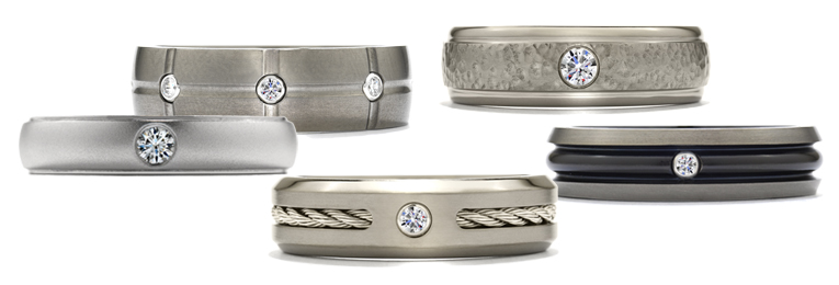 New Mens Wedding Bands from Hearts On Fire Leo Hamel Fine