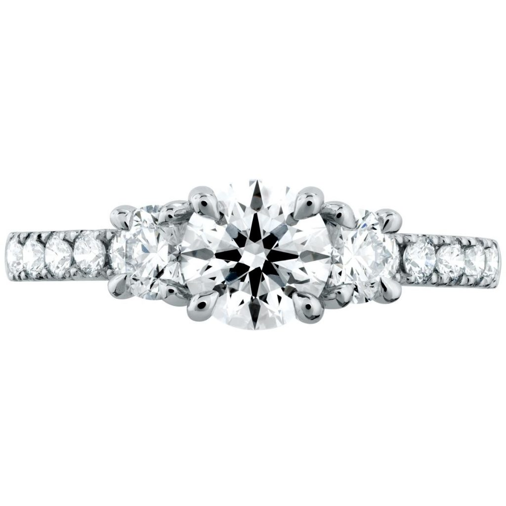 image of hearts on fire engagement ring