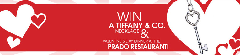 Enter to win a Tiffany & Co. Necklace and dinner at The Prado!