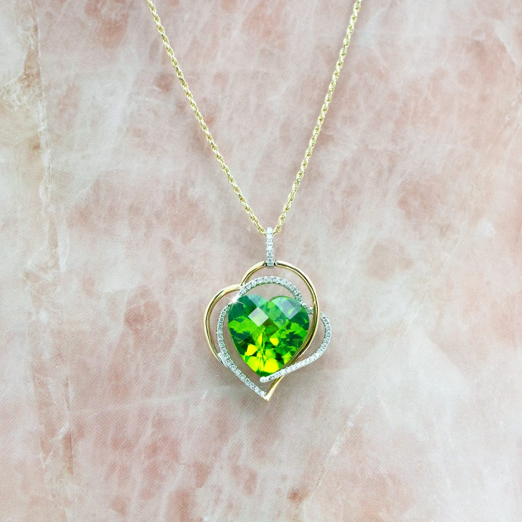 image of august birthstone necklace
