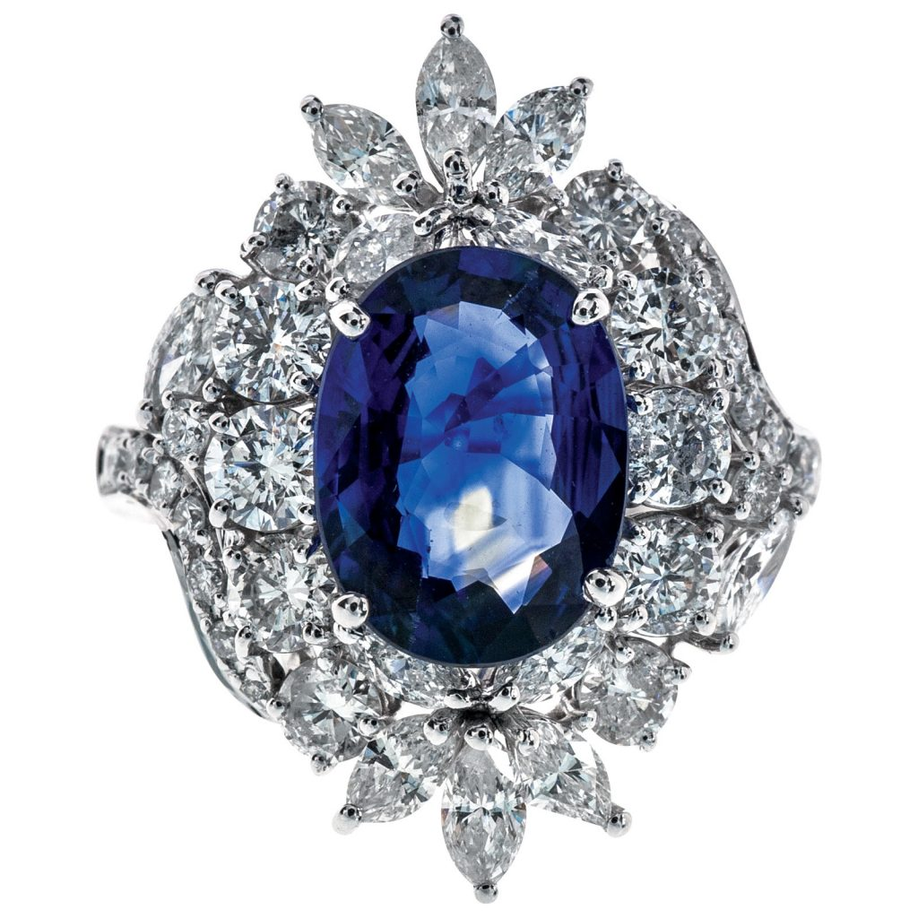 image of blue sapphire ring