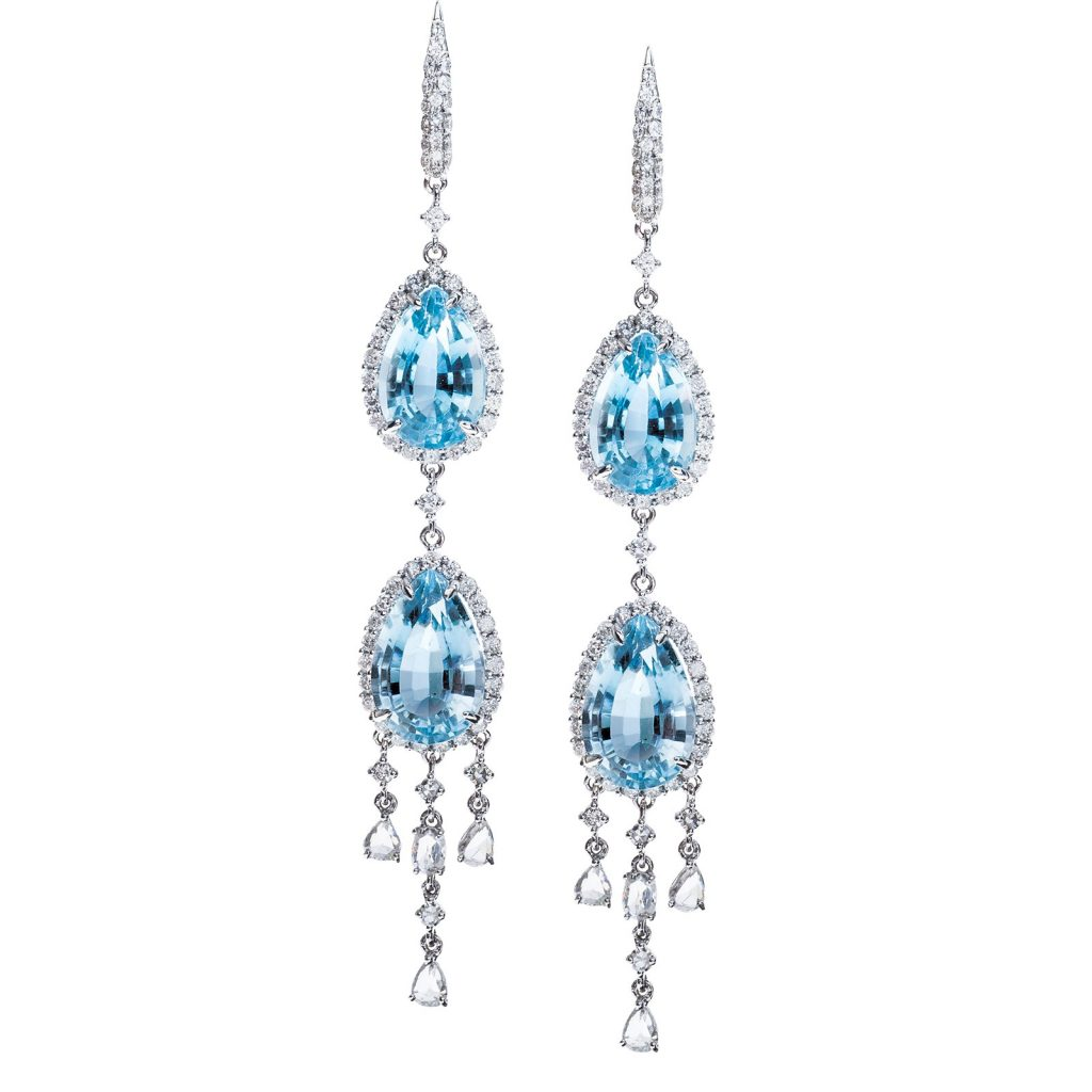 image of blue topaz earrings november birthstone
