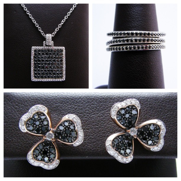 New and vintage pieces in our Leo Hamel showroom showcasing black diamonds.