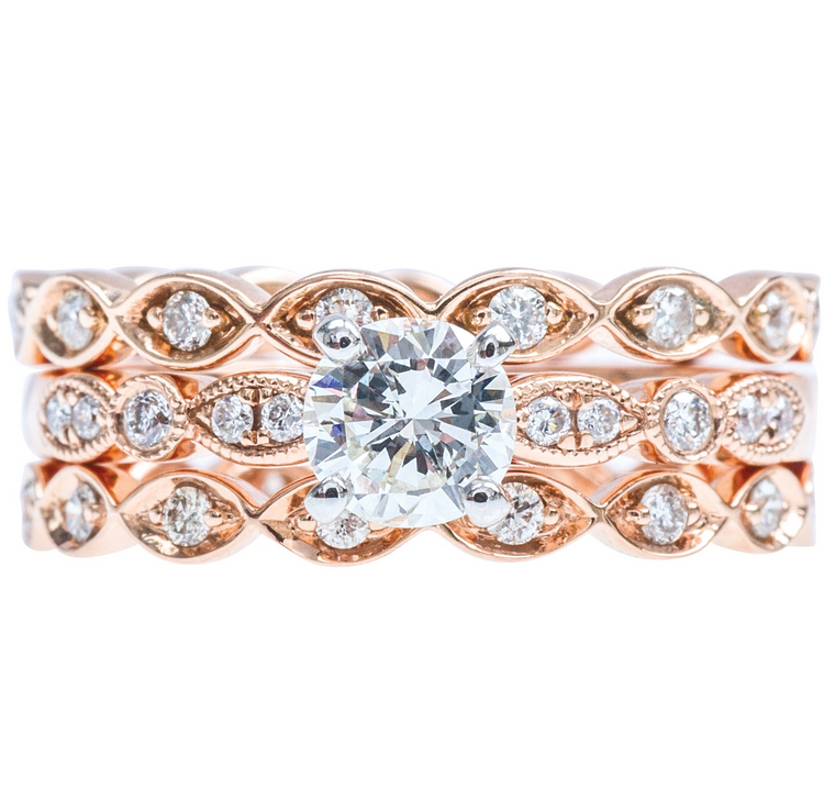 Rose Gold Venetti Engagement Ring