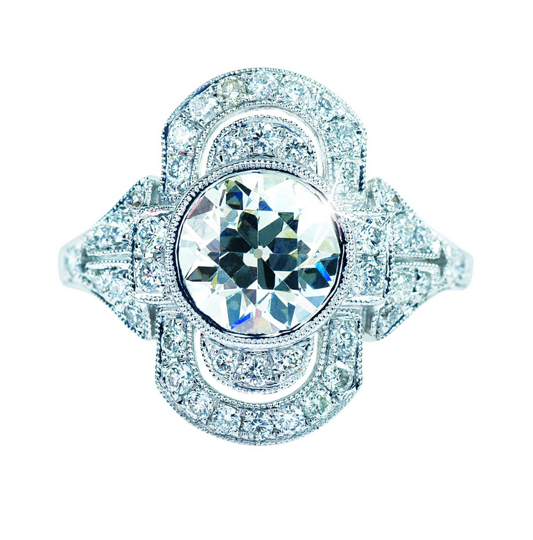 Antique-Inspired Engagement Ring from Leo Hamel