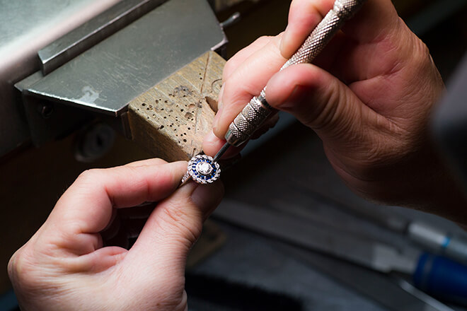White Gold Ring Repair - Gold Jewelry San Diego