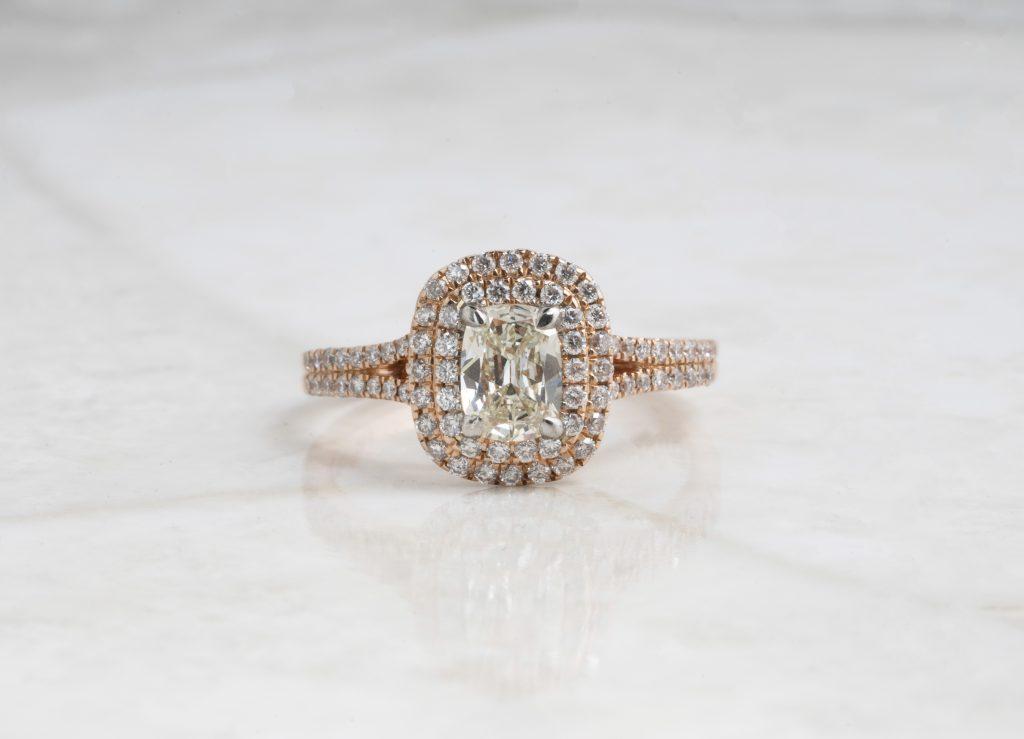 image of cushion diamond ring shape