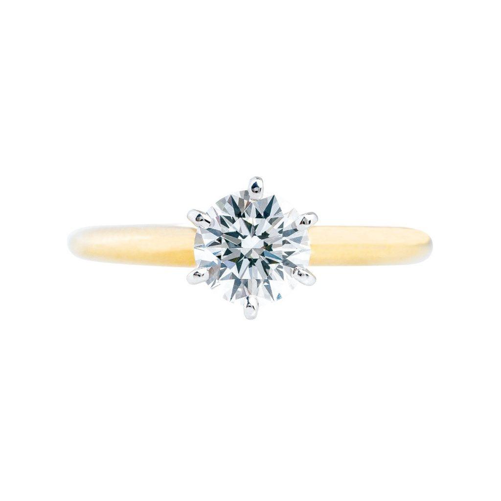 image of round brilliant cut diamond shapes