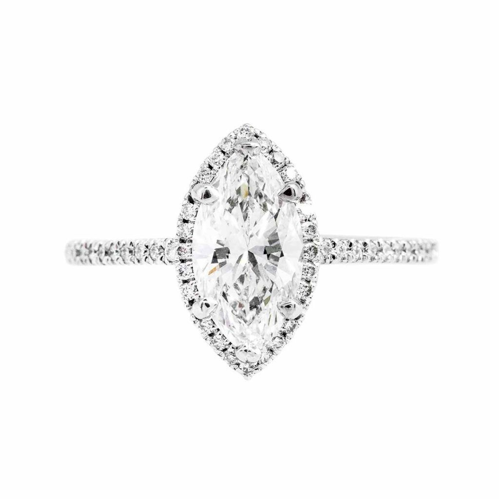 image of marquise cut diamond ring shape