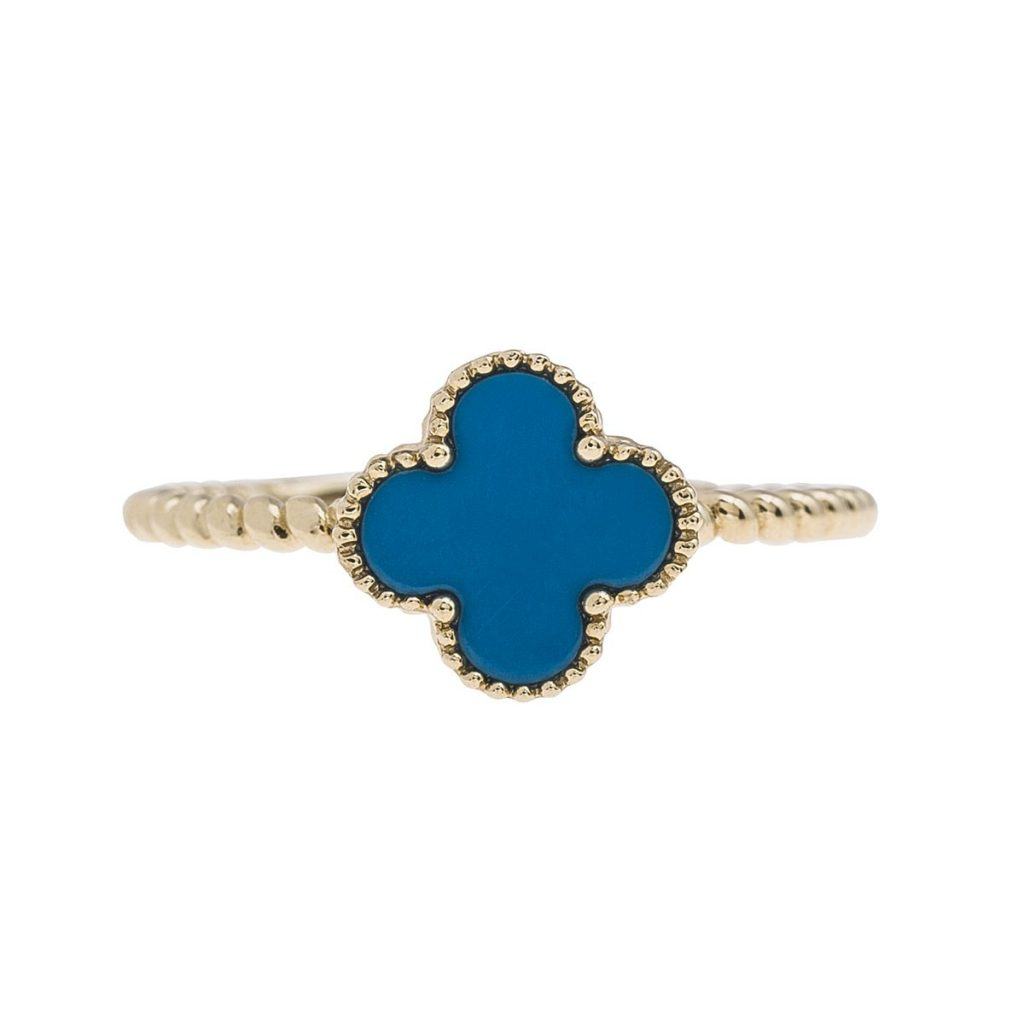 Turquoise colored gemstone ring