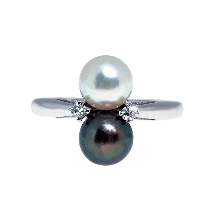 beautiful antique pearl ring mountings leo hamel fine. Black Bedroom Furniture Sets. Home Design Ideas