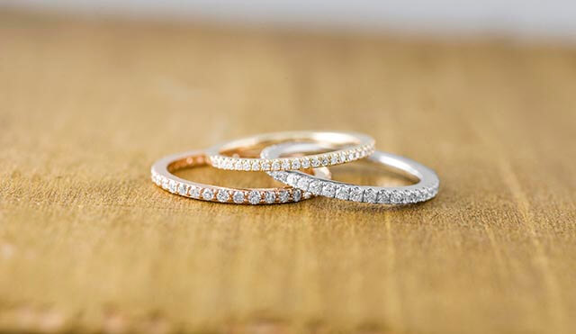 simple band - what kind of wedding band goes with a marquise solitaire