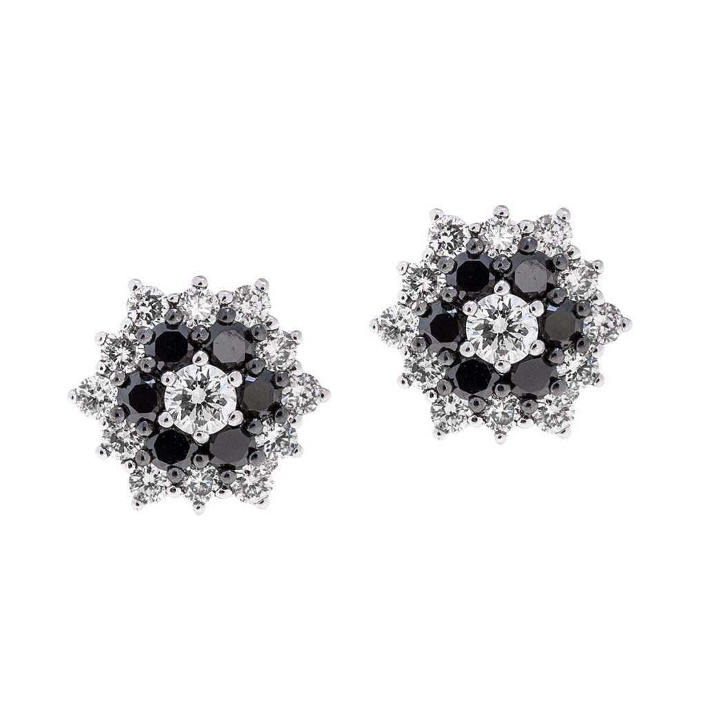 image of black diamond jewelry earrings