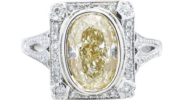 Antique yellow diamond ring