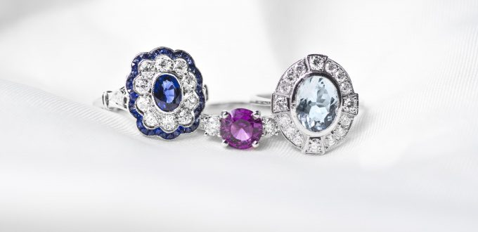 Vintage Colored Engagement Rings