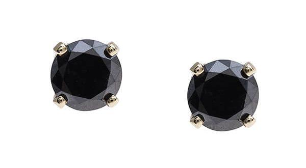 Vintage Stud Earrings Black