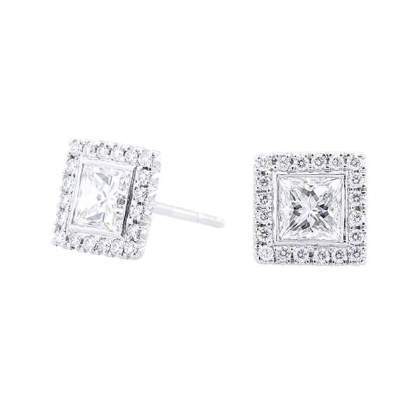 Kwiat earrings -Square studs