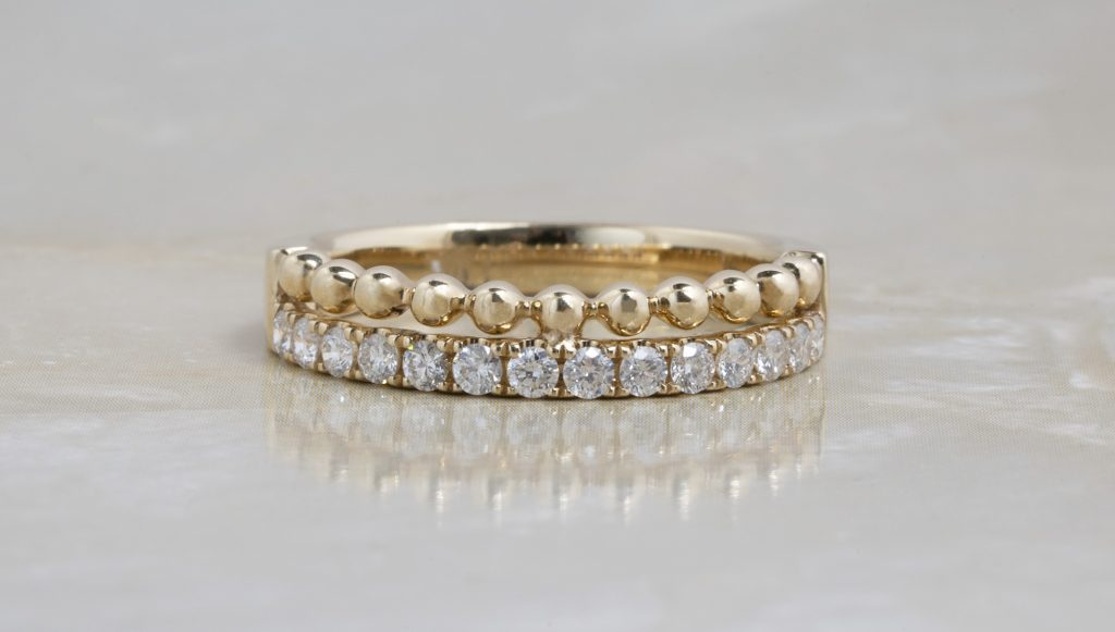 image of straight wedding bands