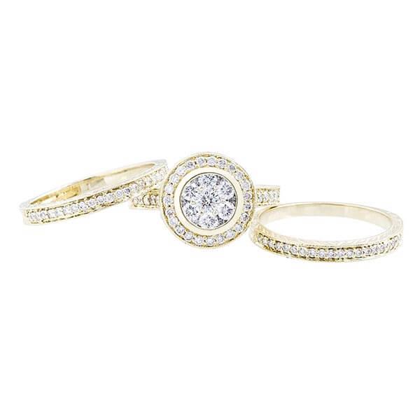 Trio Set Wedding Rings - Best Jewelers in San Diego