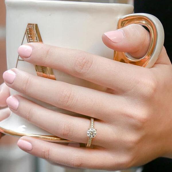 Vintage Tacori Engagement Ring on a Finger