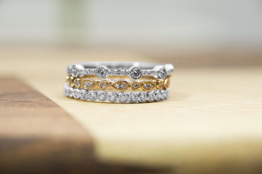 ring engagement bandstack wedding photo stack band my rings with which topic