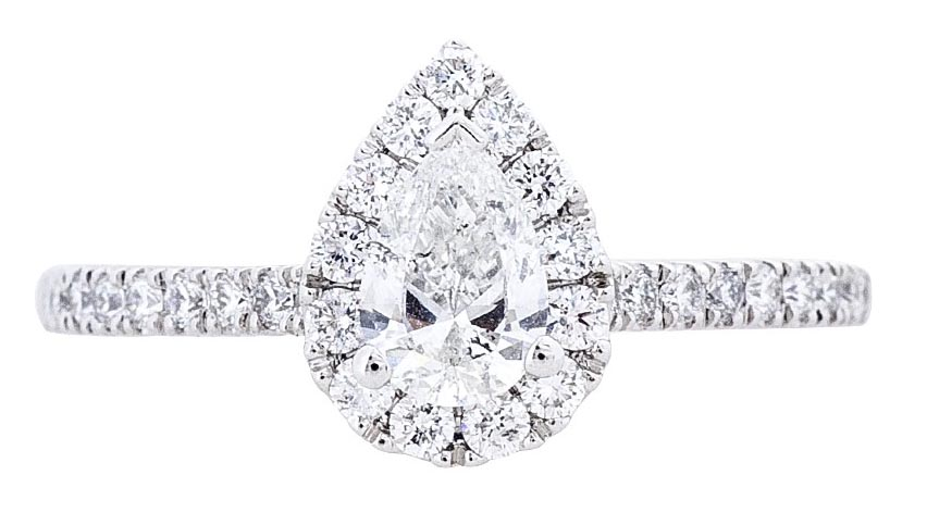 pear-cut-diamond-halo-engagement-ring-with-pave-band