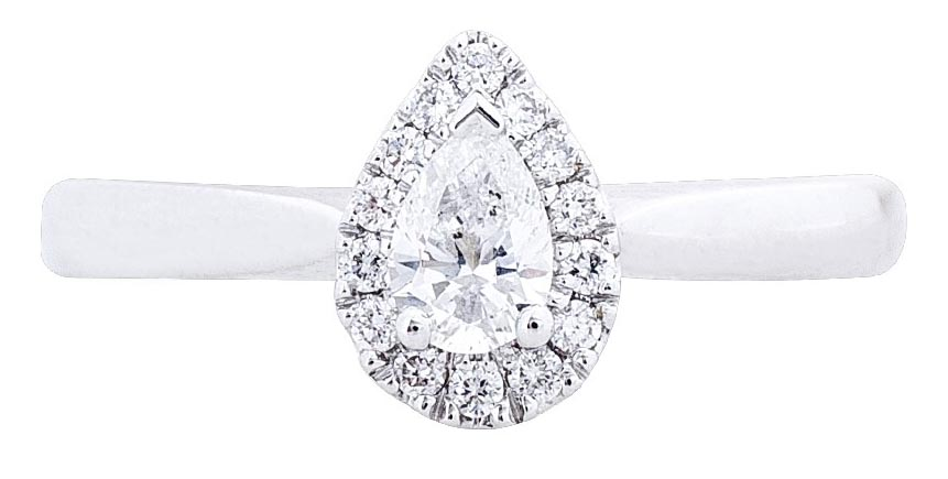 pear-cut-diamond-halo-engagement-ring