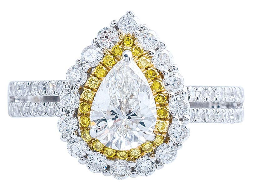 pear-cut-white-and-yellow-diamond-double-halo-engagement-ring