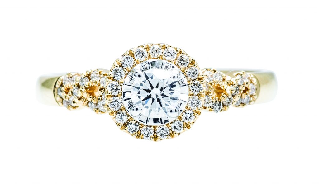 image of yellow gold engagement ring
