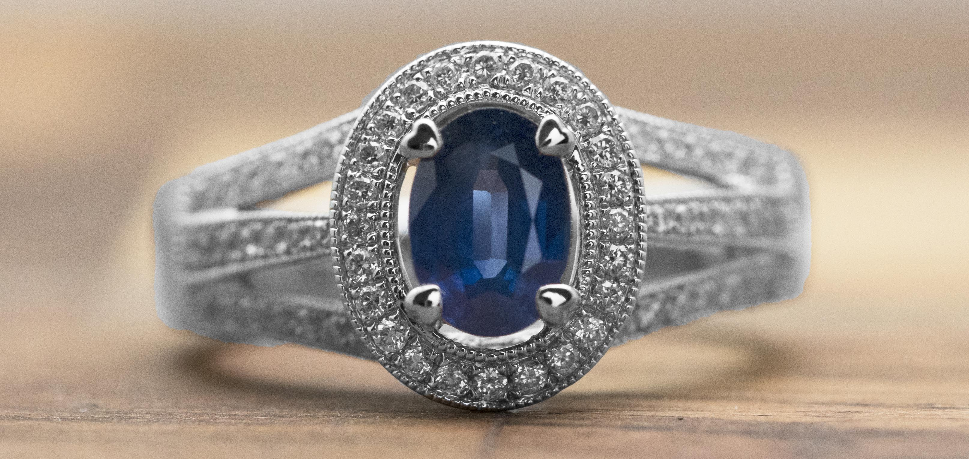 platinum mcteigue ring gold sapphire mcclelland bouquet colored diamond engagement rings flora