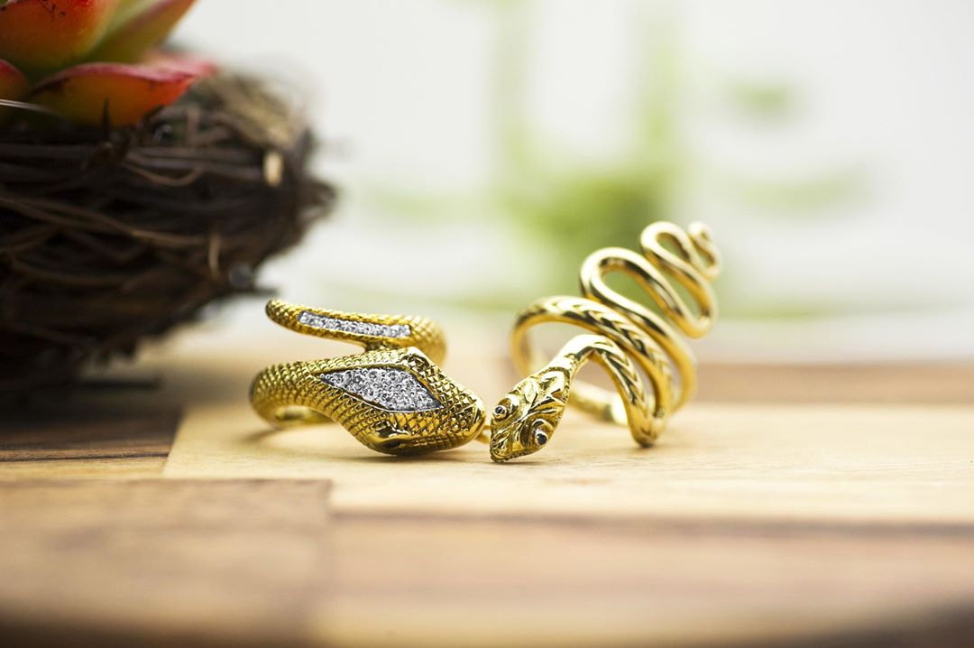 spring-jewelry-snake-rings