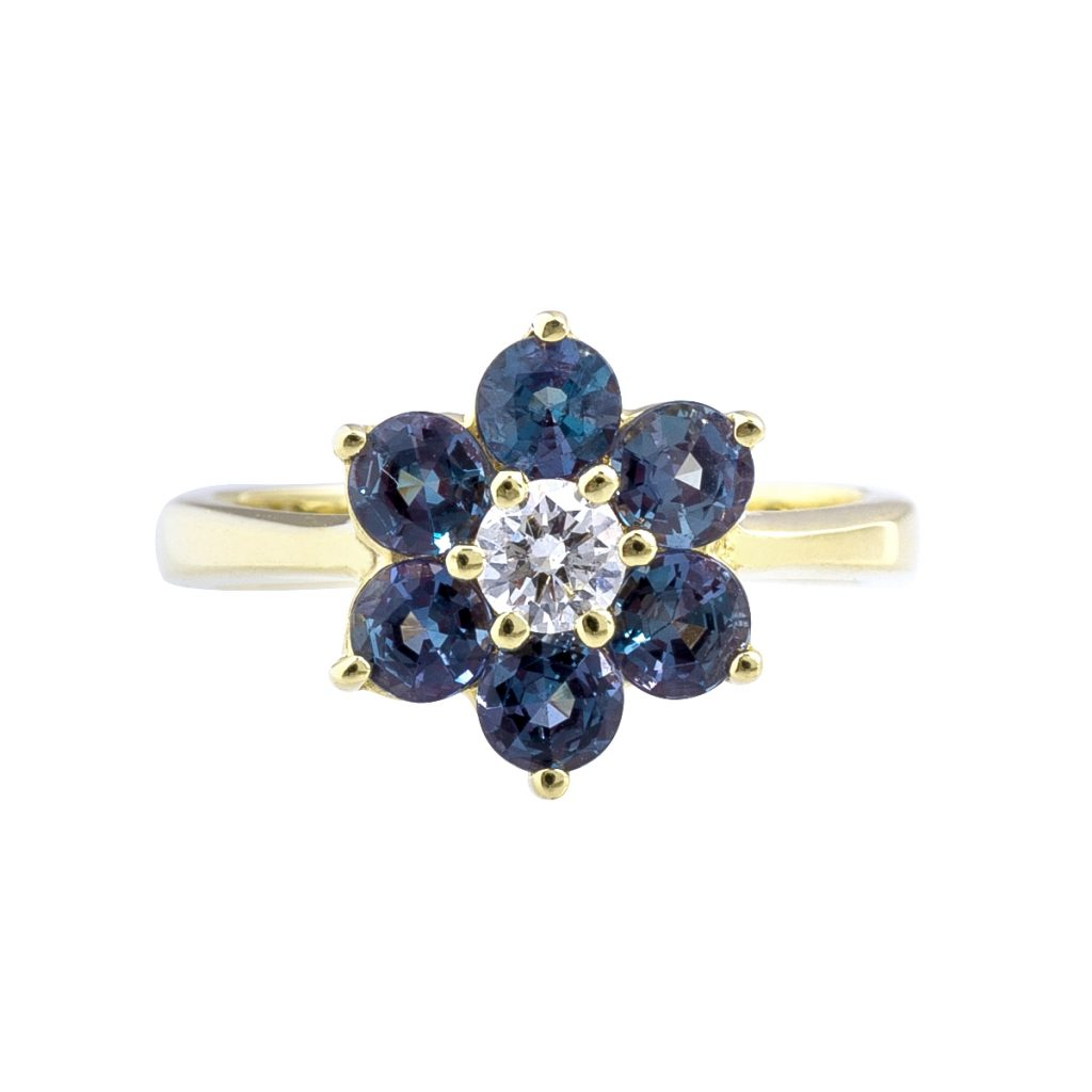 june birthstone alexandrite ring