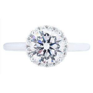 popular halo engagement ring setting