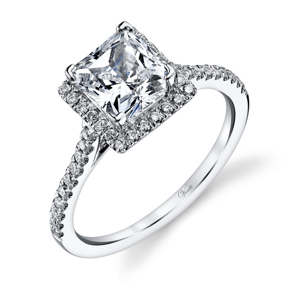 Halo setting affordable engagement ring