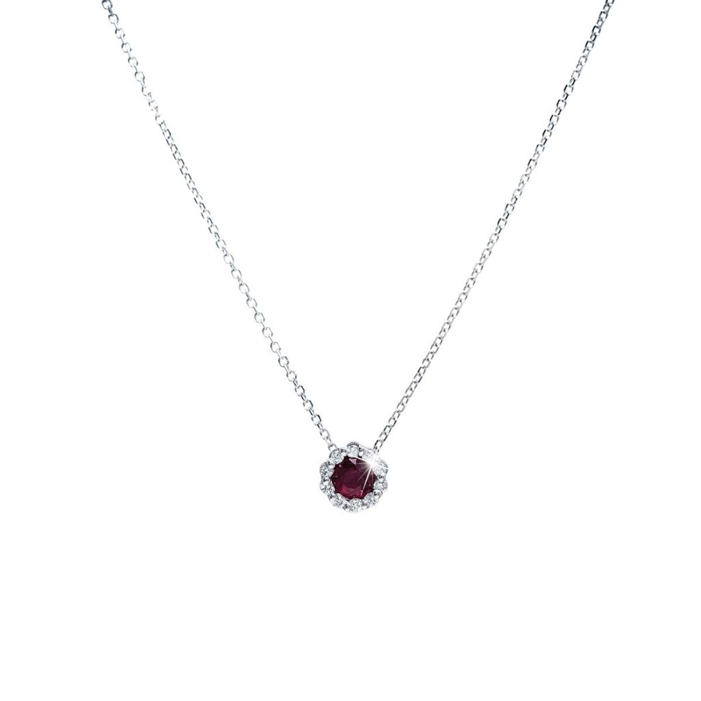 image of July birthstone necklace