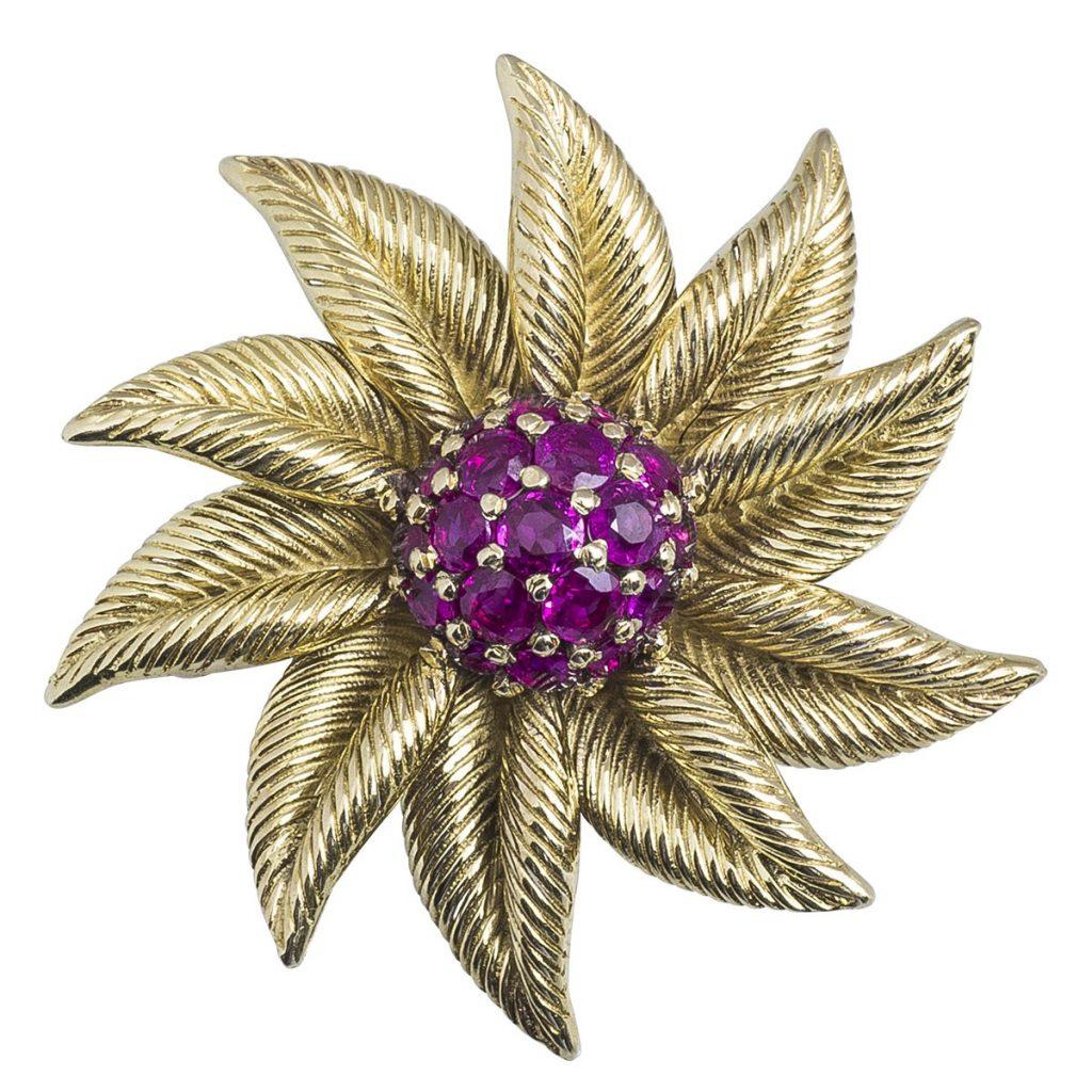 image of July birthstone flower brooch