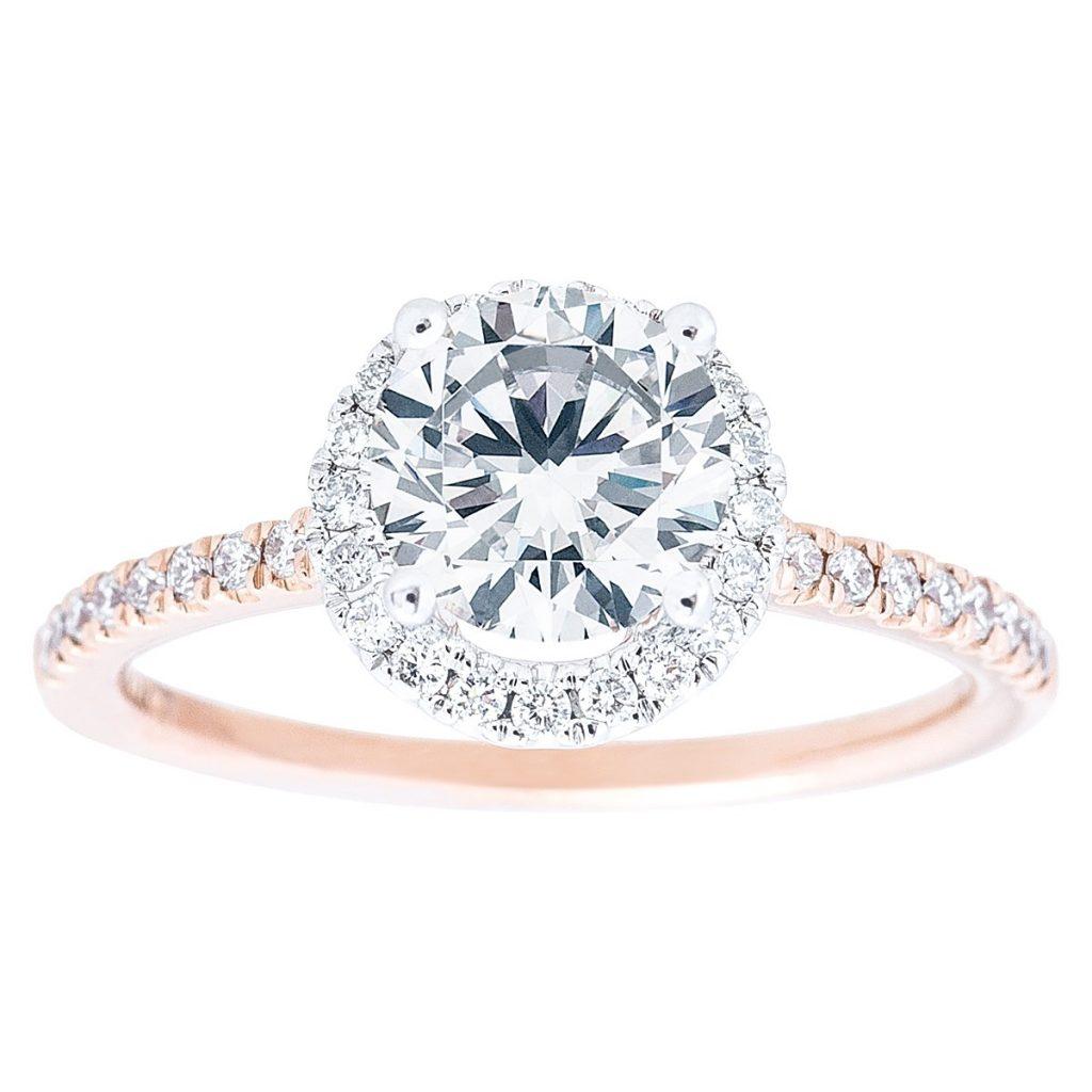 Rose gold affordable engagement ring