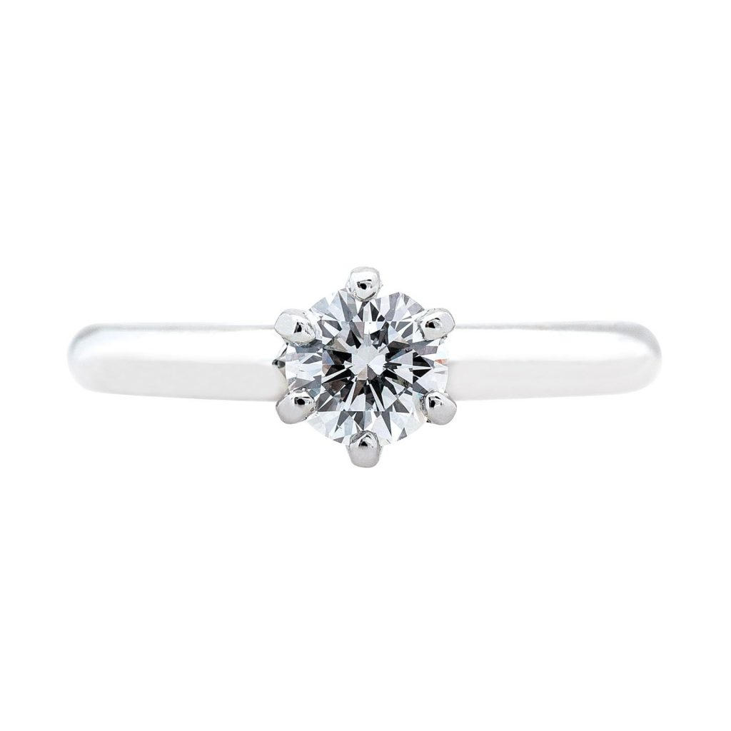 Image of solitaire minimalist engagement ring