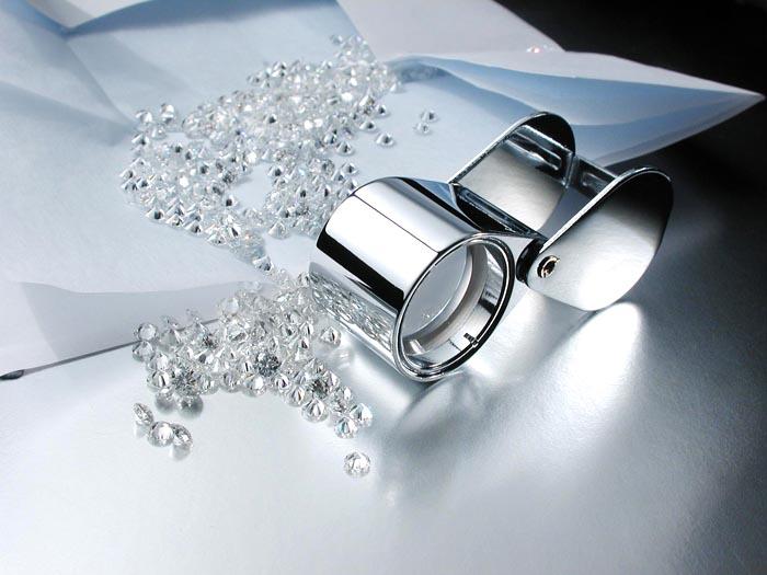image of loose diamonds