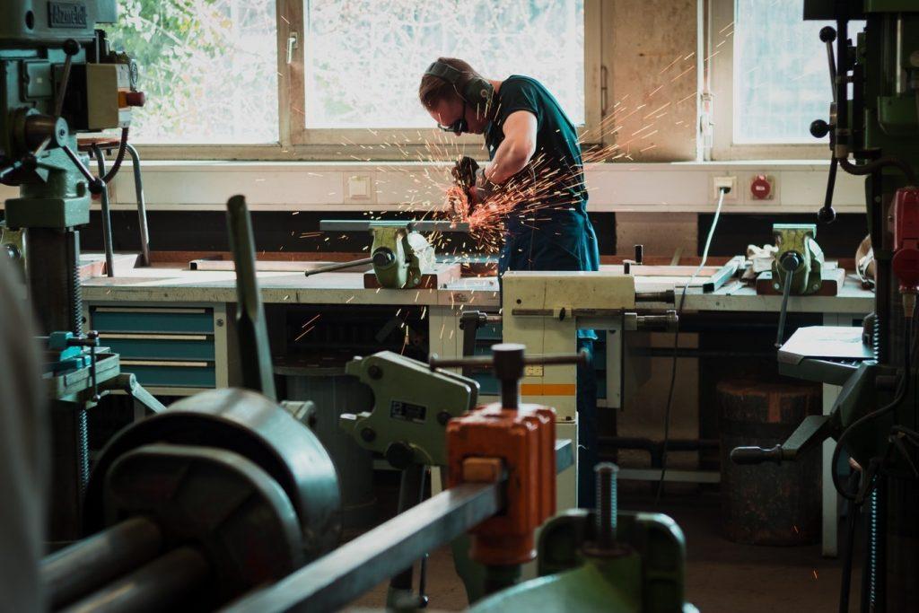 image of welder in a workshop