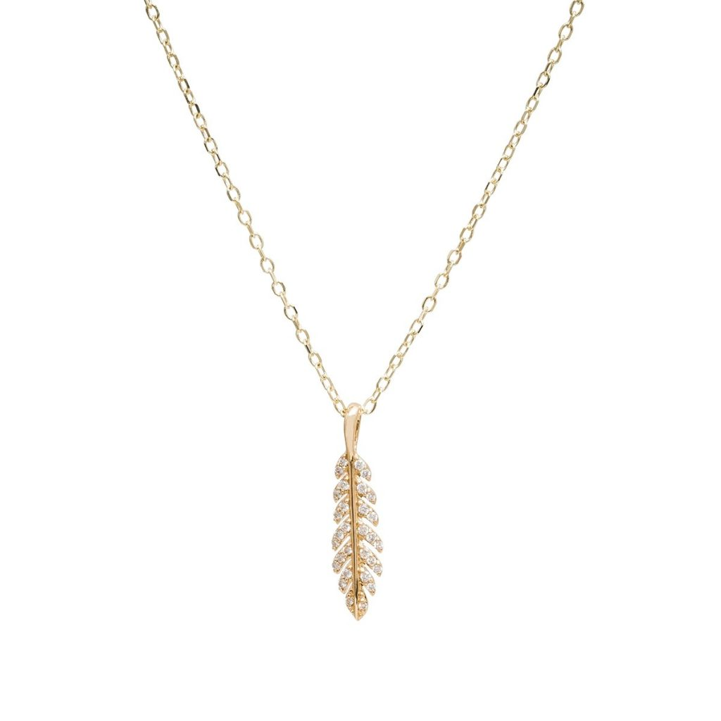 image of feather necklace fall fashion