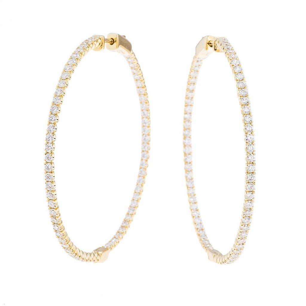 image of hoop earrings classic jewelry