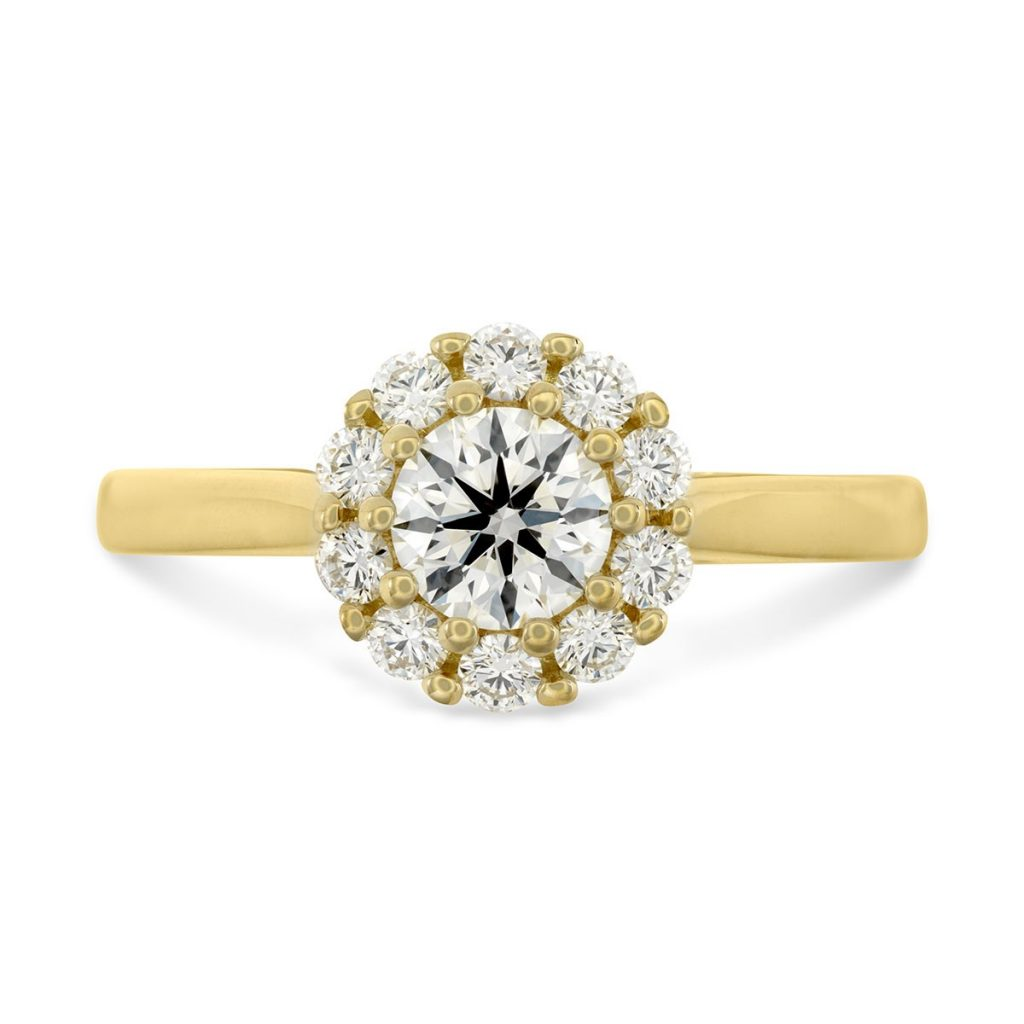 image of yellow gold diamond ring