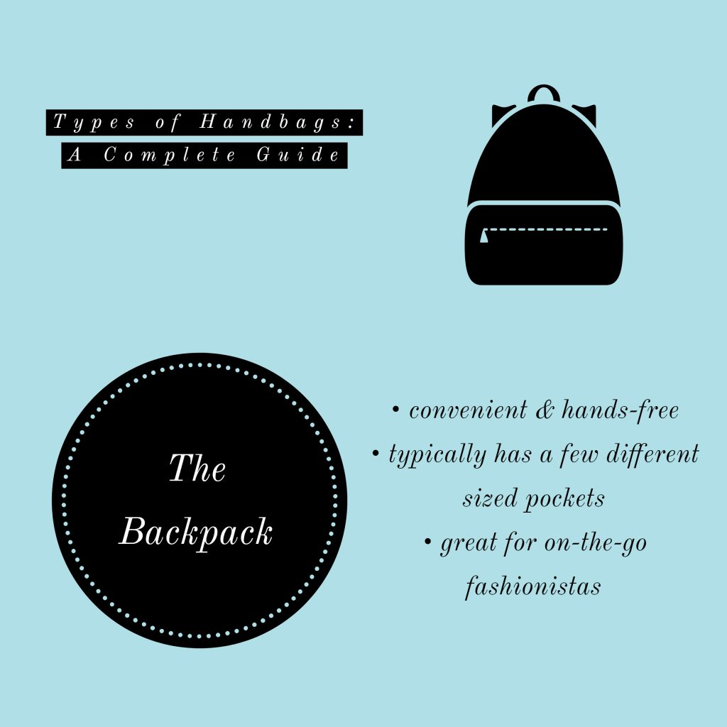 image of backpack types of handbags