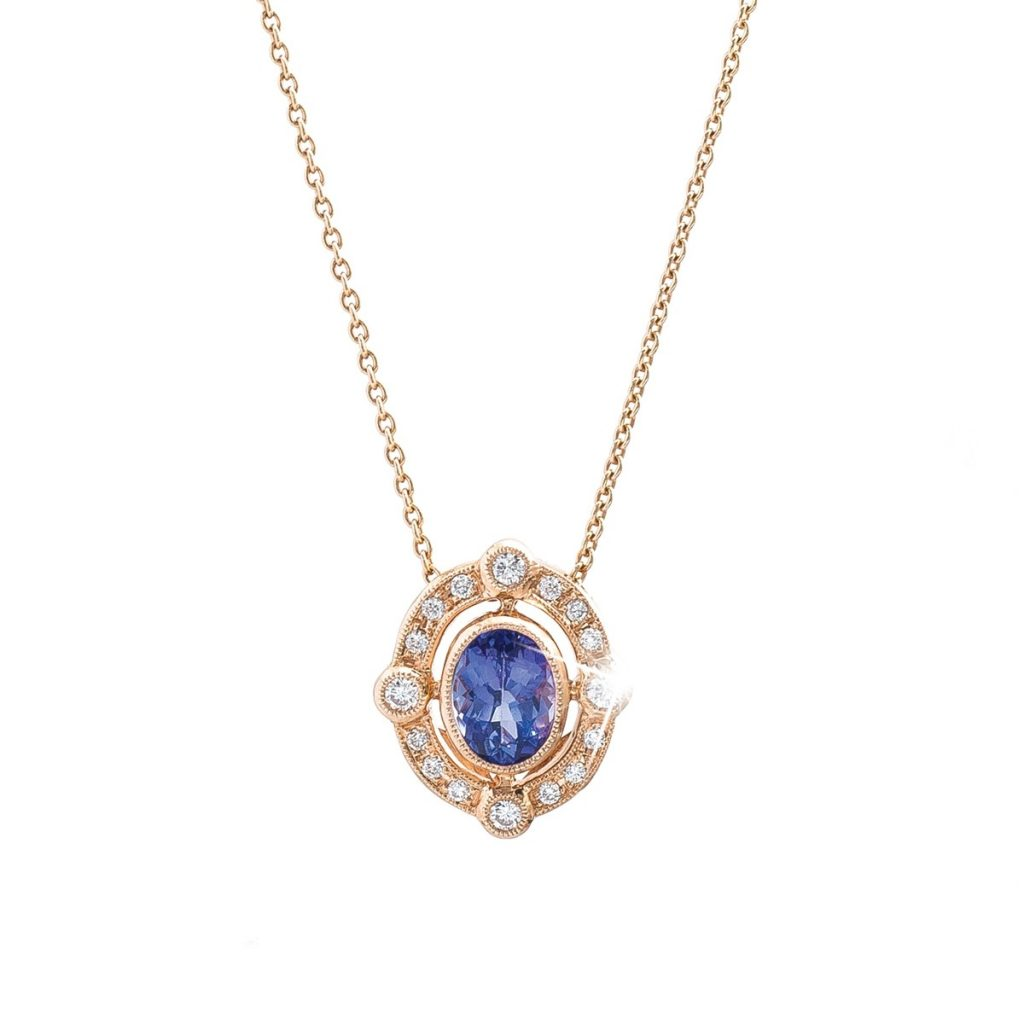 image of gemstone pendant holiday gift guide