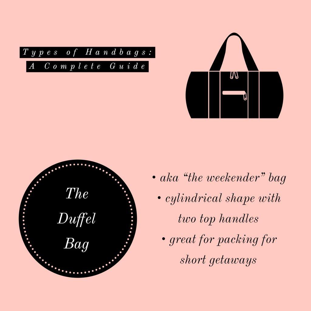 image of duffel bag types of handbags