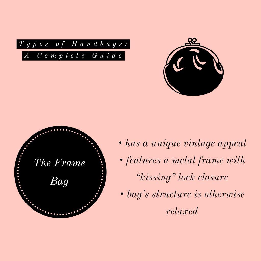 image of frame bag types of handbags