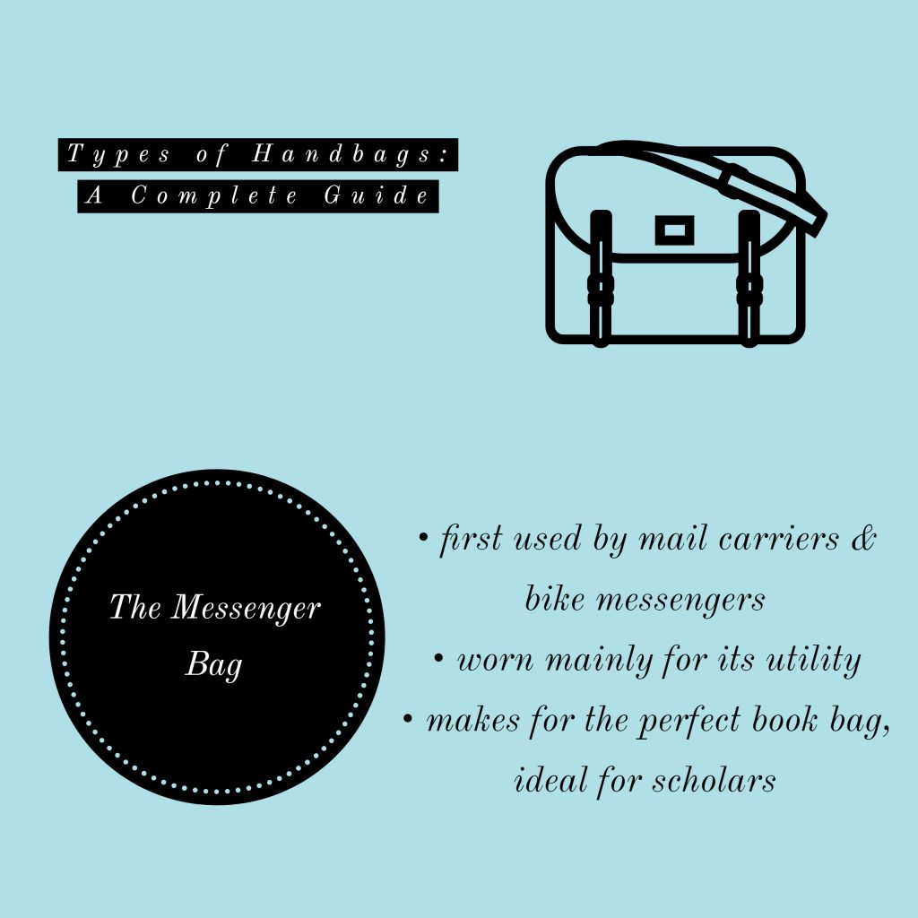 image of messenger bag types of handbags